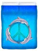 Dolphin Peace Duvet Cover