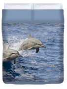 Dolphins Leaping Duvet Cover by Dave Fleetham - Printscapes