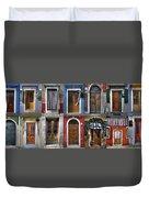 doors and windows of Burano - Venice Duvet Cover by Joana Kruse