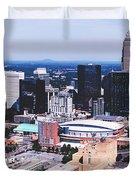 Downtown Charlotte Duvet Cover