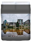 Downtown Of Greenville South Carolina Around Falls Park Duvet Cover