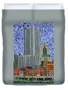 Downtown Pittsburgh - View From Smithfield Street Bridge Duvet Cover