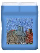 Downtown Raleigh - View From Chavis Park Duvet Cover