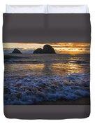 Dramatic Sunset Oregon Coast Usa Duvet Cover