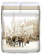 Dresden, Altmarkt Square, Germany, 1903 Duvet Cover