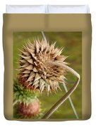 Dried Up Thistle Duvet Cover