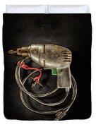 Drill Motor Green Trigger Duvet Cover