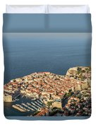 Dubrovnik And The Adriatic Coast In Croatia Duvet Cover