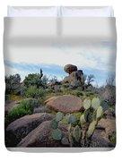 Dusk In The Desert Duvet Cover