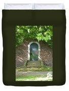 Dutch Door Digital Duvet Cover by Carol Groenen