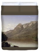 Eagle Cliff At Franconia Notch In New Hampshire Duvet Cover by David Johnson