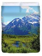 Eagle River- Alaska Duvet Cover