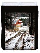 Early Winter Barn Duvet Cover