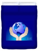 Earth In The Your Hands Duvet Cover