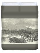Easter Hunt With The Royal Stag Hounds  The Meet At Stoke Common Duvet Cover