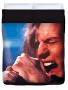 Eddie Vedder Duvet Cover by Gordon Dean II
