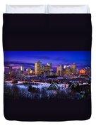 Edmonton Winter Skyline Duvet Cover