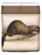 Edward Lear, A Weasel Duvet Cover