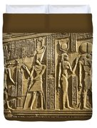 Egyptian Temple Art Duvet Cover by Michele Burgess