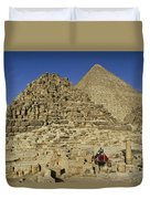 Egypt's Pyramids Of Giza Duvet Cover
