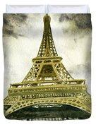 Eiffel Tower Paris Duvet Cover by Irina Sztukowski