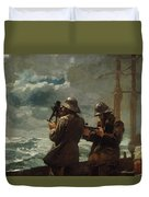 Eight Bells Duvet Cover by Winslow Homer