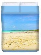 El Garrapatero Beach On Santa Cruz Island In Galapagos. Duvet Cover
