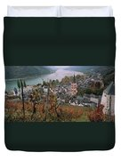 Elevated View Of Bacharach Duvet Cover