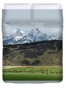 Elk Herd Duvet Cover