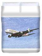 Emirates A380 Airbus Oil Duvet Cover