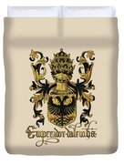 Emperor Of Germany Coat Of Arms - Livro Do Armeiro-mor Duvet Cover by Serge Averbukh