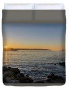 English Bay Sunset Duvet Cover