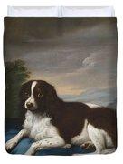 English Springer Spaniel On A Cushion Duvet Cover