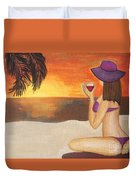 Enjoy The Beach Duvet Cover