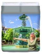 Enjoying In Lisbon Duvet Cover