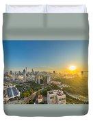 Epic And Beautiful Sunrise At Kuala Lumpur City Center Duvet Cover