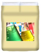 Erlenmeyer Flasks In Science Research Lab Duvet Cover