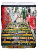 Escadaria Selaron In Rio De Janeiro Duvet Cover