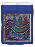 Ethnic Wedding Decorations Abstract Usring Fabrics Ribbons Graphic Elements Duvet Cover