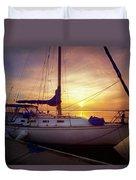 Evening Harbor At Rest Duvet Cover