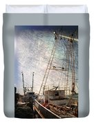 Evening In The Harbor Duvet Cover
