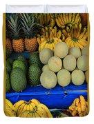 Exotic Fruit Market Duvet Cover