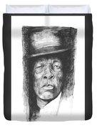 Face Of The Blues - John Lee Hooker Duvet Cover
