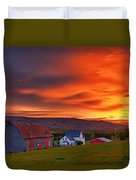 Farm At Sunset In Wentworth Valley Duvet Cover