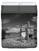 Farmhouse Cottage Ruin Flinders Ranges South Australia Duvet Cover