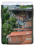 Favela In Salvador Da Bahia Brazil Duvet Cover