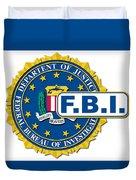 Fbi Seal Mockup Duvet Cover