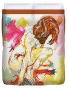 Female Nude Figure Study Duvet Cover