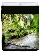Fern Canyon, Redwood National Park Duvet Cover