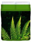 Fern Close-up Nature Patterns Duvet Cover